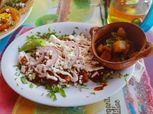 Chicken enchilada at Taco y Tequila Cancun , La Isla Shopping centre