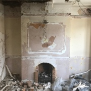 Chimney breast - Gutted