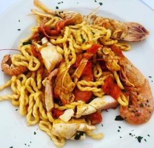 Delish seafood pasta in Sardinia