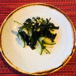 Seaweed and cucumber salad