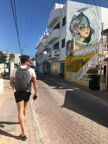Walking the streets of Isa Mujeres