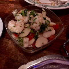 King prawns and butter beans salad £4,5